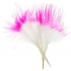 "Marabou Feathers4-6"" white/hot pink Two Tone"